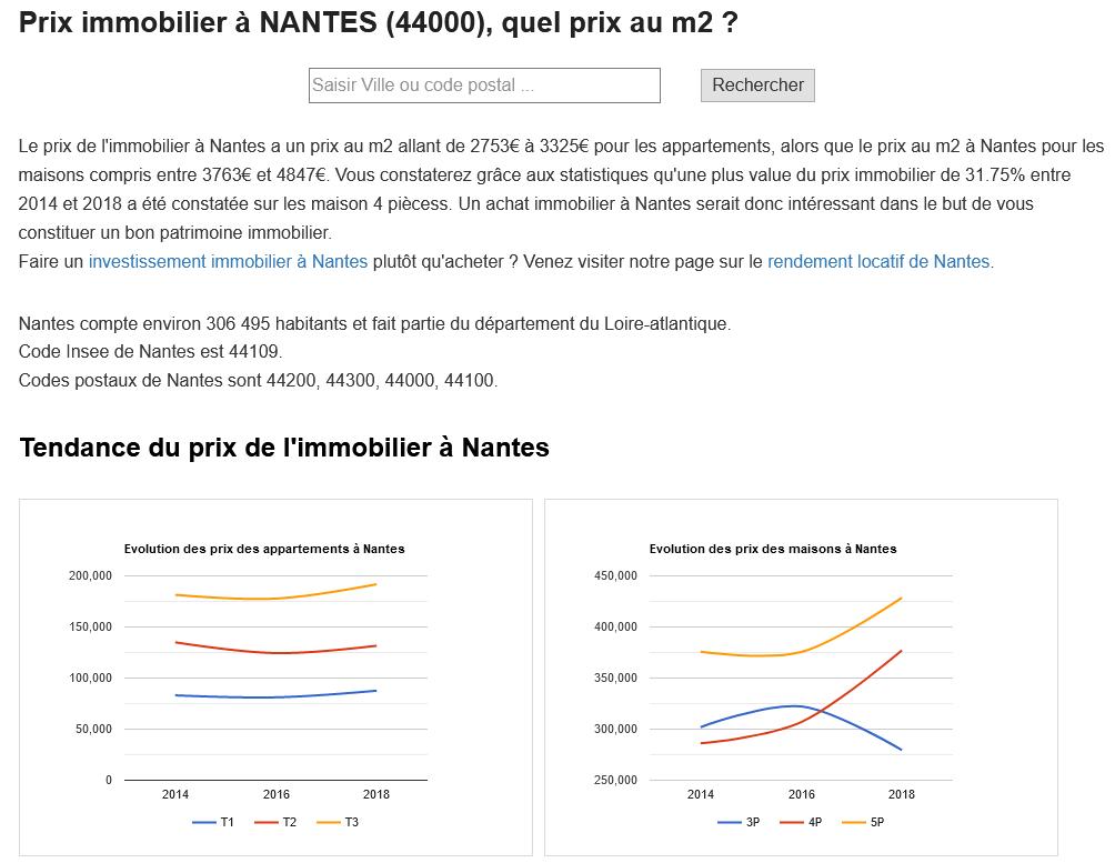 Prix immobilier Nantes